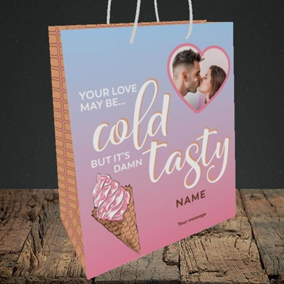 Picture of Cold But Tasty, Valentine's Design, Medium Portrait Gift Bag