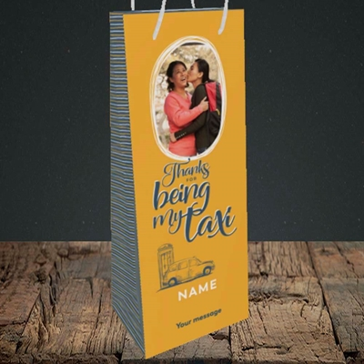 Picture of Taxi, Mother's Day Design, Bottle Bag