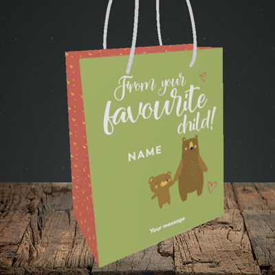 Picture of Favourite child, (Without Photo) Mother's Day Design, Small Portrait Gift Bag