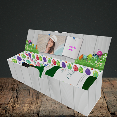 Picture of Grass, Easter Design, Lay-down Bottle Box