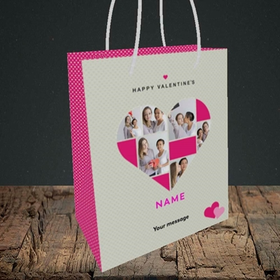 Picture of Heart Multi Photo, Valentine's Design, Small Portrait Gift Bag