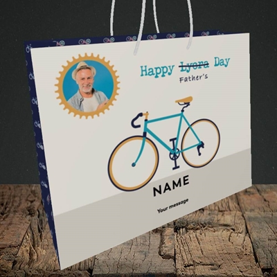 Picture of Lycra Day, Father's Day Design, Medium Landscape Gift Bag
