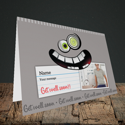 Picture of Mad, Get Well Soon Design, Landscape Greetings Card
