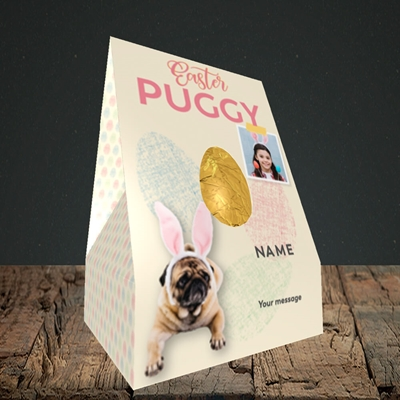 Picture of Easter Puggy, Easter Design, Truffle Easter Egg