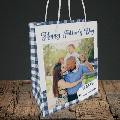 Picture of 1. Large Photo, Father's Day Design, Small Portrait Gift Bag