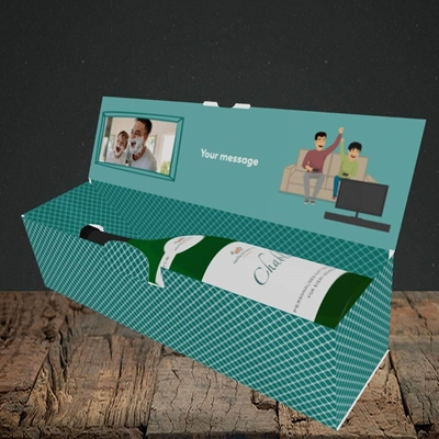 Picture of The Boss, Father's Day Design, Lay-down Bottle Box