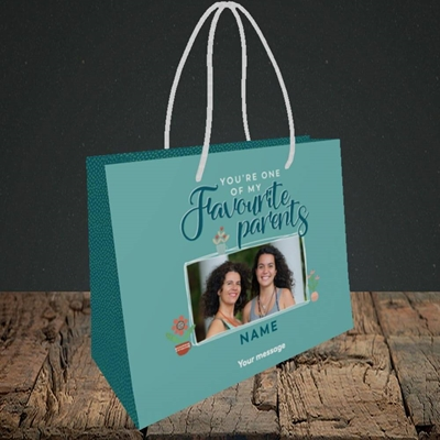 Picture of Favourite Parents, Mother's Day Design, Small Landscape Gift Bag