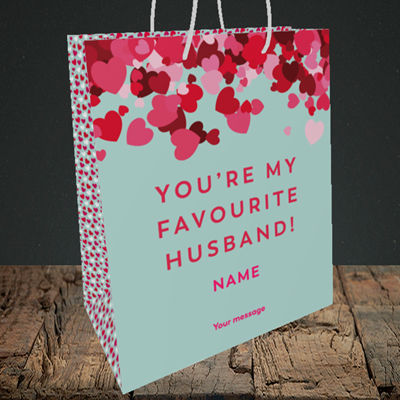 Picture of Favourite Husband(Without Photo), Valentine's Design, Medium Portrait Gift Bag