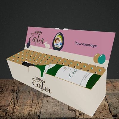 Picture of Four Bunnies, Easter Design, Lay-down Bottle Box