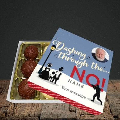 Picture of Dashing Through The... NO!, Christmas Design, Choc 9