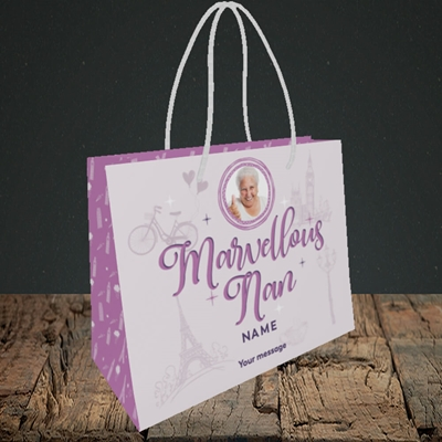 Picture of Marvellous Nan, Mother's Day Design, Small Landscape Gift Bag