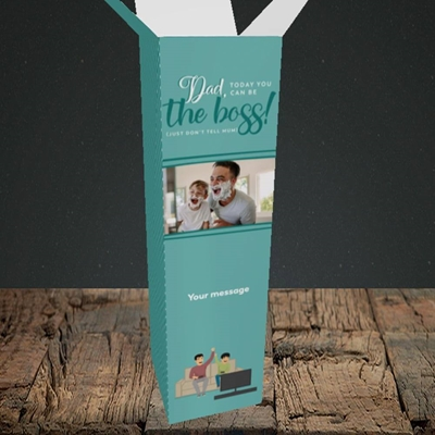 Picture of The Boss, Father's Day Design, Upright Bottle Box