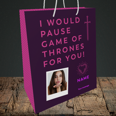 Picture of Game Of Thrones, Valentine's Design, Medium Portrait Gift Bag