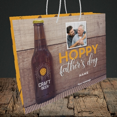 Picture of Hoppy, Father's Day Design, Medium Landscape Gift Bag