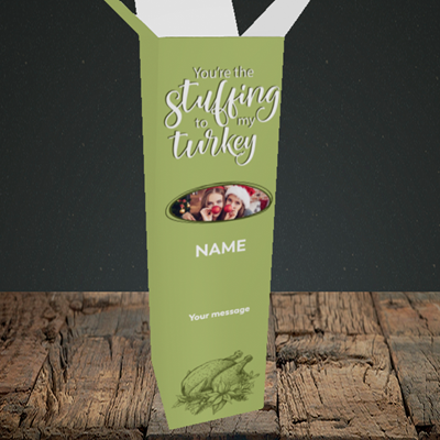 Picture of Stuffing To My Turkey, Christmas Design, Upright Bottle Box