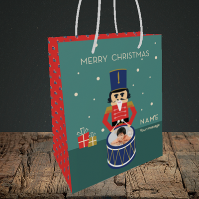 Picture of Drummer Boy, Christmas Design, Small Portrait Gift Bag