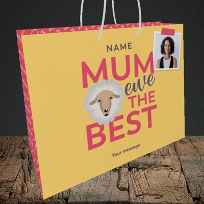 Picture of Ewe The Best, Mother's Day Design, Medium Landscape Gift Bag