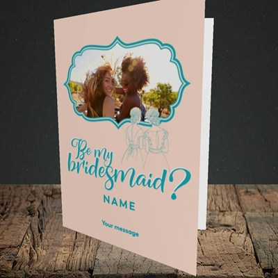 Picture of Be My Bridesmaid, Wedding Design, Portrait Greetings Card