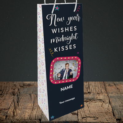 Picture of Midnight Kisses, New Year Design, Bottle Bag