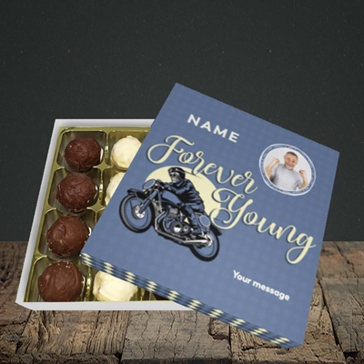 Picture of Forever Young (Motorbike), Birthday Design, Choc 16