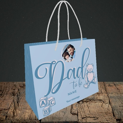 Picture of Dad To Be, Pregnancy Design, Small Landscape Gift Bag