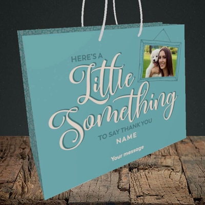 Picture of A Little Something, Thank You Design, Medium Landscape Gift Bag