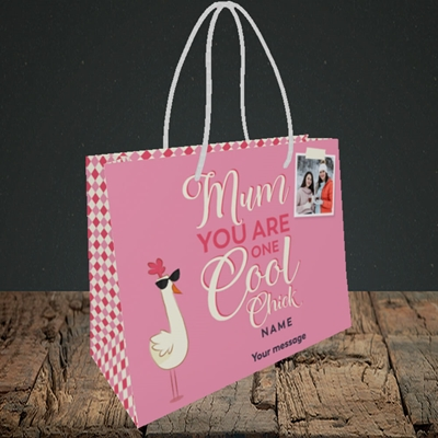 Picture of Cool Chick, Mother's Day Design, Small Landscape Gift Bag