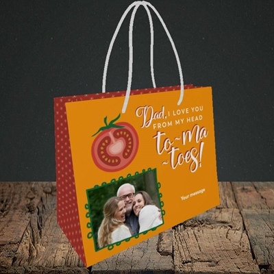 Picture of Tomatoes, Father's Day Design, Small Landscape Gift Bag