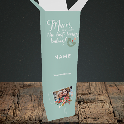 Picture of Best Looking Babies, Mother's Day Design, Upright Bottle Box