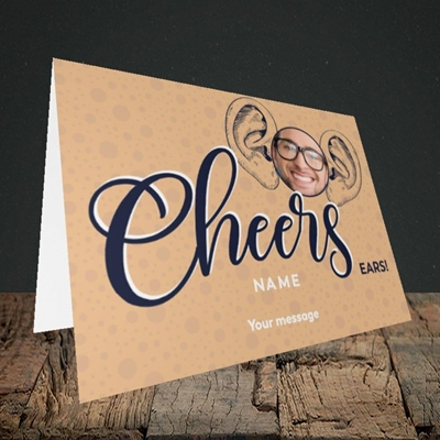 Picture of Cheers Ears, Thank You Design, Landscape Greetings Card
