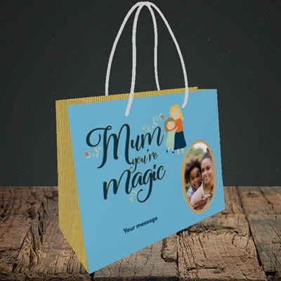 Picture of Mum You're Magic, Mother's Day Design, Small Landscape Gift Bag