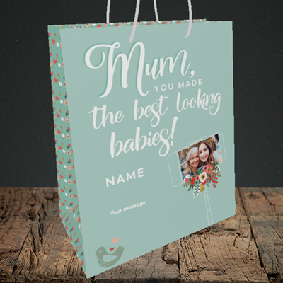 Picture of Best Looking Babies, Medium Portrait Gift Bag
