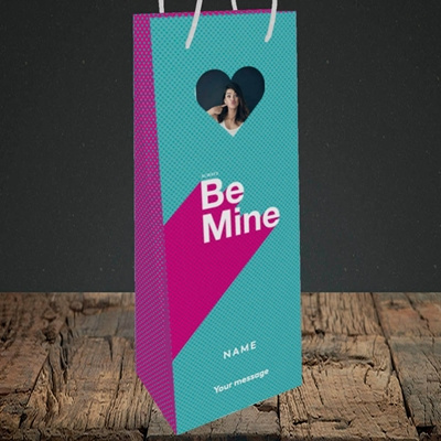 Picture of Always be Mine (type), Valentine's Design, Bottle Bag