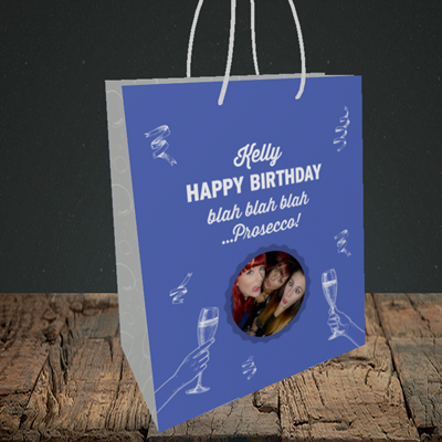Picture of Blah, Birthday Design, Small Portrait Gift Bag