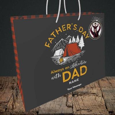 Picture of Adventure With Dad, Father's Day Design, Medium Landscape Gift Bag