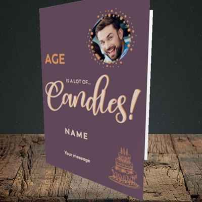 Picture of A Lot Of Candles, Birthday Design, Portrait Greetings Card
