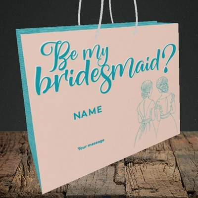 Picture of Be My Bridesmaid(Without Photo), Wedding Design, Medium Landscape Gift Bag