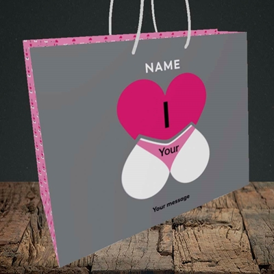 Picture of I Love Your Bum(Without Photo), Valentine's Design, Medium Landscape Gift Bag