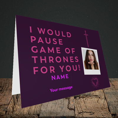 Picture of Game Of Thrones, Valentine's Design, Landscape Greetings Card