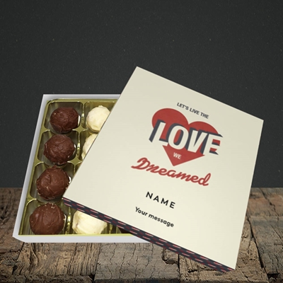 Picture of let's live the love (Without Photo), Valentine Design, Choc 16