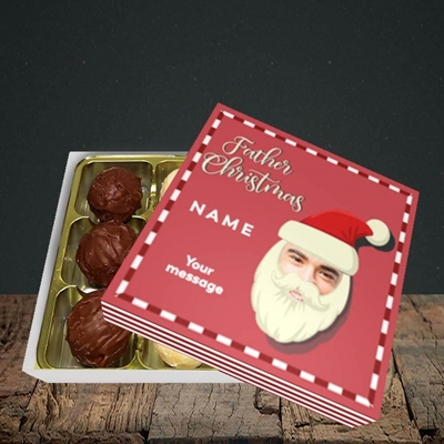 Picture of Father Christmas Mask, Christmas Design, Choc 9