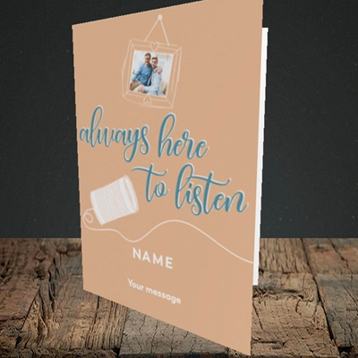 Picture of Always Here, Thinking of You Design, Portrait Greetings Card
