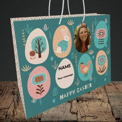 Picture of Easter Egg Farm, Easter Design, Medium Landscape Gift Bag