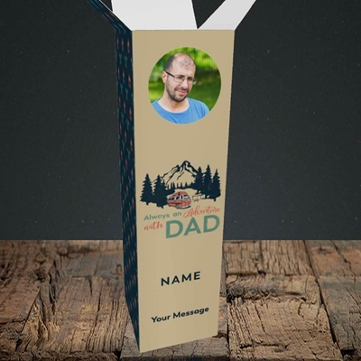 Picture of Camper Van With Dad, Father's Day Design, Upright Bottle Box