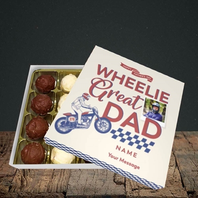 Picture of Wheelie Great Dad, Father's Day Design, Choc 16