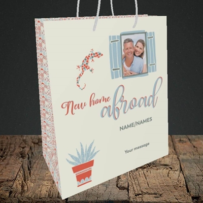 Picture of New Home Abroad, New Home Design, Medium Portrait Gift Bag