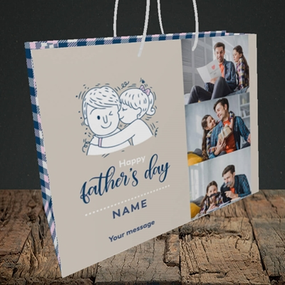 Picture of Father & Daughter, Father's Day Design, Medium Landscape Gift Bag