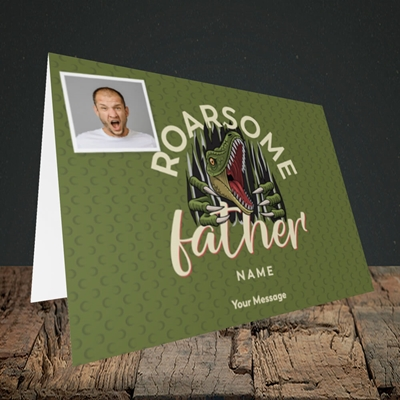 Picture of Roarsome Father, Father's Day Design, Landscape Greetings Card