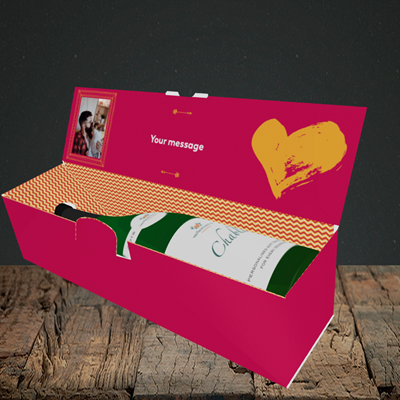 Picture of Love You Even When, Valentine's Design, Lay-down Bottle Box