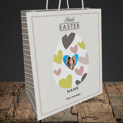 Picture of Egg Of Hearts, Easter Design, Medium Portrait Gift Bag